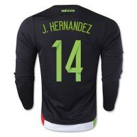 90dbe426343 2015 Mexico Soccer Team J. HERNANDEZ  14 Long Sleeve Home Replica Jersey 2015  Mexico Soccer Team J. HERNANDEZ  14 Long Sleeve Home Soccer jerseys