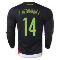 Mexico National Team 2015 J. HERNANDEZ  14 LS Home Soccer Jersey Mexico  National Team 2015 J. HERNANDEZ  14 LS Home Soccer jerseys ba6cd8825