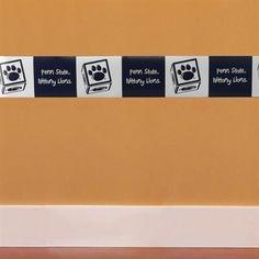 Cute border for a boy's penn state nursery/room