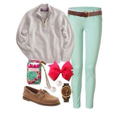 For winter/spring preppy style