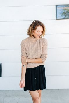 Camel cable-knit sweater #fallfashion #sweater #cashmere