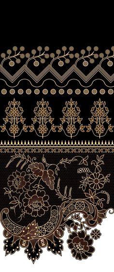 Art Deco Pattern, Ikat Pattern, Border Pattern, Border Design, Textile Prints, Textile Design, Beautiful Flower Drawings, Chinese Paper Cutting, Design Seeds