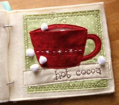 Hot Cocoa quiet book page