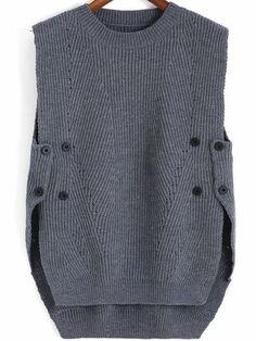Knit Fashion, Womens Fashion, Sweater Fashion, Knit Vest, Knit Cowl, Crochet Clothes, Pulls, Baby Knitting, Knitting Toys