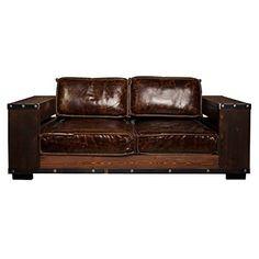 Attraktiv Sofa Ledersofa Nalund, 2 Sitzer Zweisitzer, Bezug Leder Echtleder Vintage  Braun, Breite 172 Cm, Tiefe 90 Cm, Höhe 58 Cm