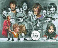 The Beatles Thru The Years Art  **Love This**