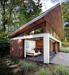 Building a shed roof house - compared with pitched roof and flat roof