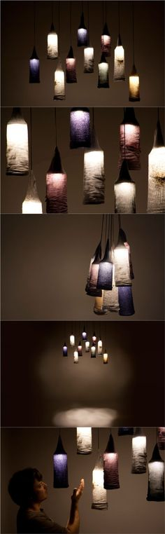 Sock Pendant Lights - #Design, #Sustainability #Light (source: creativespotting.com)