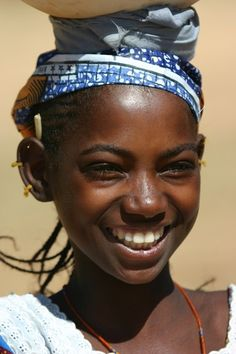 Young African girl of Dogon ethnic group