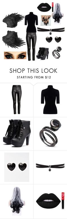 """""""The Angle Of Death"""" by awseome-girl-5953 ❤ liked on Polyvore featuring H&M, Theory, Fallon and Lime Crime"""