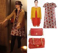 On Blair: Balenciaga Indienne Dress, Diane von Furstenberg Yamika Jacket