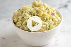 Classic potato salad recipe with video and tips for the best potatoes to use and how to cook them.