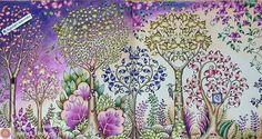@Regrann#wonderfulcoloring from @sylvias_kleursels -  The 2 pages together... #johannabasford #enchantedforestcoloringbook #hetbetoverdewoud #sylvias_kleursels #prismacolorpremier #regrann