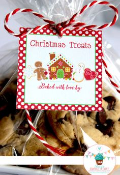 Christmas Treats Tag DIY Printable INSTANT by StacysSweetStuff