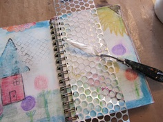 Made by Nicole: Using Backgrounds You DON'T Love When Art Journalling