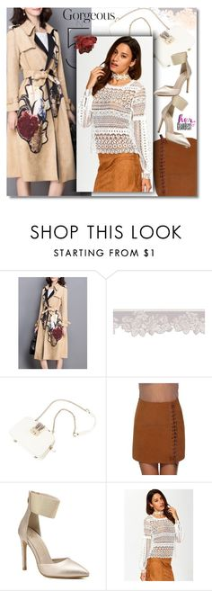 """Trench Coat & Lace Blouse"" by andrea2andare ❤ liked on Polyvore"