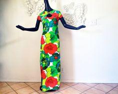 Vintage Hawaiian Dress 1960s 60s MOD Malihini by elliemayhems, $99.00