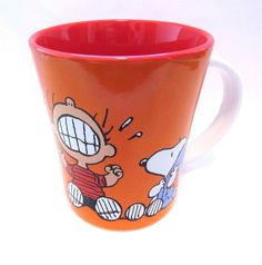 Peanuts Coffee Cup Linus Snoopy Stoneware Mug 15 oz Crying Isn't Going To Help