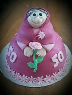 sarah taart Sarah 50 jaar stippen taart/ Sarah 50 years polkadot cake  sarah taart