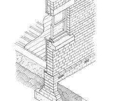 External brick and block walls Precast Concrete, Concrete Blocks, Brick Masonry, Masonry Wall, Wall Section Detail, Cavity Wall Insulation, Timber Battens