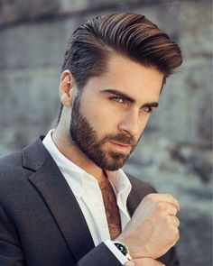 macho-pompadour-hairstyles-for-men-2018 Trendy Mens Haircuts, Trending Haircuts, Popular Haircuts, Hairstyles Haircuts, Trendy Hairstyles, Layered Hairstyles, Mens Wedding Hairstyles, Short Haircuts, Fashion Hairstyles