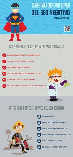 Guía para protegerte del SEO negativo #infografía