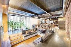 Cozy Living Room with Sunken Conversation Pit