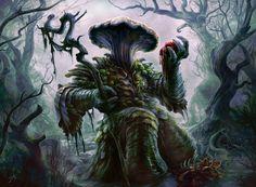 madcat-world: Thallid Soothsayer - JasonEngle - Inspirational Art Alien Concept Art, Creature Concept Art, Creature Design, Dungeons And Dragons Characters, D&d Dungeons And Dragons, Fantasy Monster, Monster Art, Forest Creatures, Fantasy Creatures