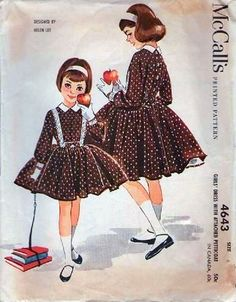 McCall's 4643 by Helen Lee © 1958.  Featured as a dress for Betsy McCall in her October 1959 paper doll.