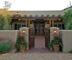 adobe house plans with courtyard Spanish Revival, Spanish Style Homes, Spanish House, Spanish Colonial, Spanish Courtyard, Courtyard Entry, Adobe Haus, Santa Fe Home, Hacienda Homes
