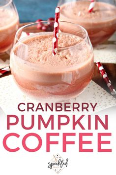 Liven up your coffee with Cranberry Pumpkin Cold Brew Coffee Drink! This easy naturally flavored cold brew coffee is the perfect drink to serve at an at-home brunch. #easyentertaining #speckledpalate #ad