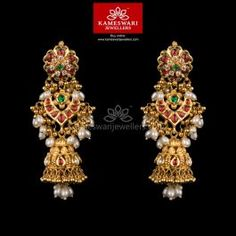 Buy traditional Earrings online at Kameswari Jewellers in India.
