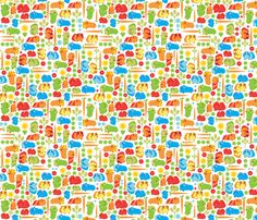 Guinea Pig Vegetable Patch fabric by ebygomm on Spoonflower - custom fabric