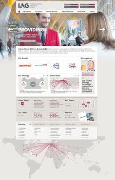 IAG Corporate Website 2012 2012 by Paul Guy Newby, via Behance