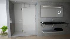 Conceito Form Espelho, lavatório, base de duche, resguardo de banho e painel de banho.  Concept Form Mirror, washbasin, shower tray, shower enclosure and shower pannel.  #biselarte #form