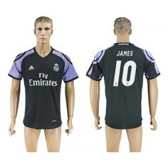 Real Madrid 16-17 James Rodriguez 10 TRödjeställ Kortärmad  #Fotbollströjor