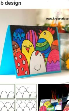 How to make an easy Easter postcard Easter Art, Easter Crafts For Kids, Diy Ostern, Christmas Card Crafts, Easter Activities, Children Activities, Sharpie Art, Art Classroom, Art Plastique