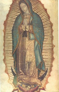 Our Lady of Guadalupe Virgin Mary I love this piece of religious art