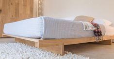 Japanese Bed Frame Attic Bed No Headboard Japanese Style King Bed Frame Low Bed Frame, King Bed Frame, Japanese Platform Bed, Bed Platform, Bed Frame Design, Bed Design, Minimal Bed Frame, Japanese Bed Frame, Under Bed Storage Boxes