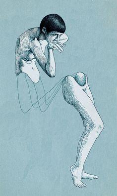 Take back one step --- Holistic fragmentation by Ümit Boran Illustrations, Illustration Art, Kunst Online, Arte Horror, Art Plastique, Love Art, Oeuvre D'art, Art Inspo, Painting & Drawing