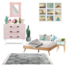 """""""bedroom pastel &  cactus"""" by holliejade on Polyvore featuring interior, interiors, interior design, home, home decor, interior decorating, Kale, Proenza Schouler, Shiraleah and Allstate Floral Interior Decorating, Interior Design, Proenza Schouler, Kale, Cactus, Pastel, Kids Rugs, Interiors, Bedroom"""