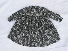 ivory & ebony - kankan&co Exclu, Smocking Patterns, Liberty Of London, Traditional Outfits, Polka Dot Top, Ivory, Fashion Outfits, Couture, Clothes