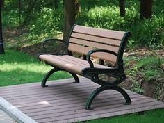 wood plastic composite park benches in Kazan,Russia
