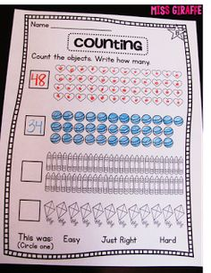 Counting worksheets and math station activities... check out all these great number activities