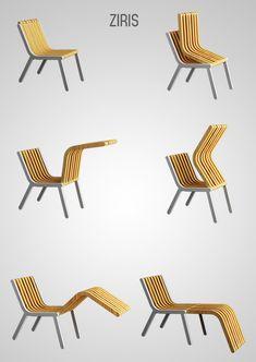 The Ziris foldable chair concept