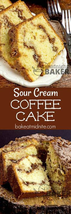 Sour cream keeps this delicious spicy and nutty coffee cake moist. Perfect for breakfast or any time.