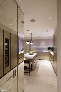 Luxury Kitchens 1508 London Interior Design Project Adam Kitchen (here are some doors with mirrors I've been searching for) - Luxury interior design studio 1508 London completes project Adam; a striking apartment located at Grosvenor Square. Interior, London Interior, Luxury Kitchens, Luxury Homes Interior, Interior Design Kitchen, Decor Interior Design, House Interior, Interior Design, Luxury Interior