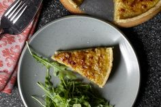 french onion tart, little tuft of salad by smitten, via Flickr