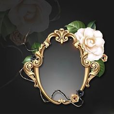 Framed with Gold~~J Background Vintage, Background Patterns, Flower Frame, Flower Art, Gold And Black Wallpaper, Boarder Designs, Boarders And Frames, Name Frame, Wedding Album Design