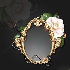 Framed with Gold~~J Background Vintage, Background Patterns, Flower Frame, Flower Art, Gold And Black Wallpaper, Boarders And Frames, Name Frame, Wedding Album Design, Stationary Design